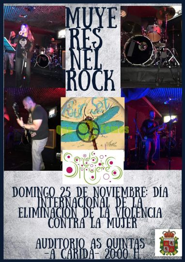 Concierto de Four Set Band en A Caridá: Muyeres nel Rock