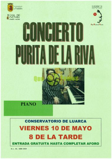Concierto de Purita de la Riva en el Conservatorio del Occidente