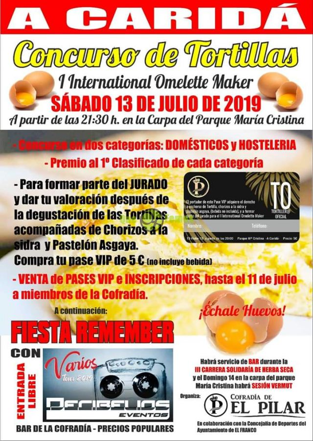 Concurso de Tortillas-I International Omelette Maker 2019 en A Caridá