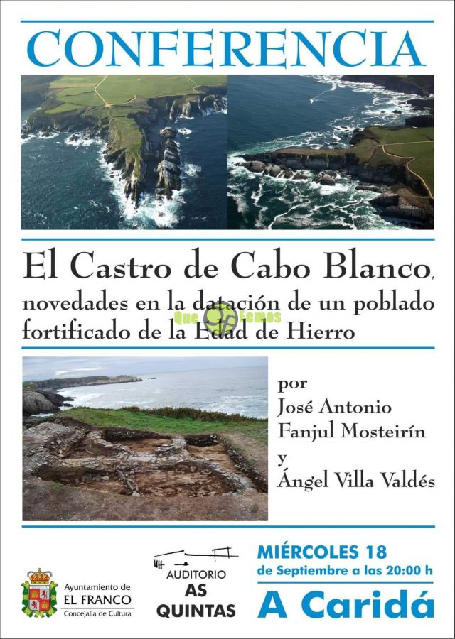 "Conferencia en As Quintas: ""El Castro de Cabo Blanco"""