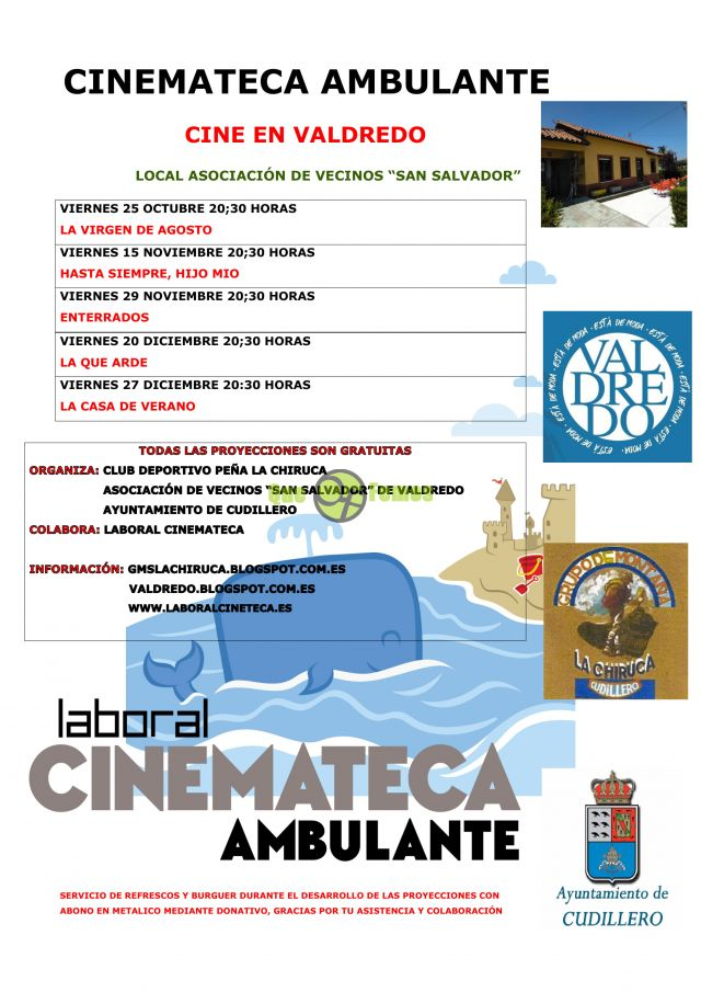 Cinemateca Ambulante en Valdredo: otoño 2019