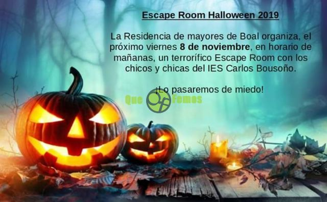 Escape Room Halloween en la Residencia de Mayores de Boal