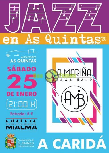 """A Mariña Jazz Band"" actúa en As Quintas"