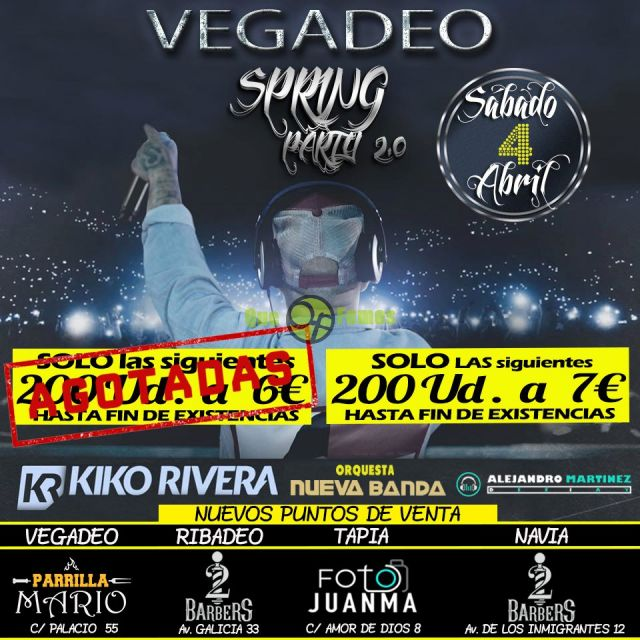 Spring Party 2020 en Vegadeo (CANCELADO)