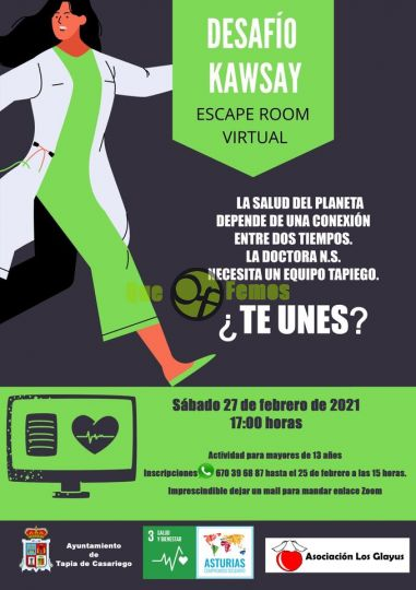 Escape Room Virtual Desafío Kawsay en Tapia de Casariego