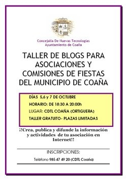 Taller de blogs en Coaña