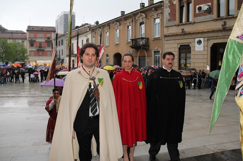 Il Capitano Roveda con Castellana e Gran Priore