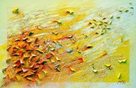 2012 Le vol des Papillons 3 cm150x100 tecnica mista su tela