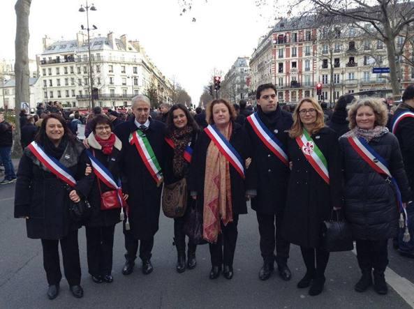 pisapia con altri sindaci francesi