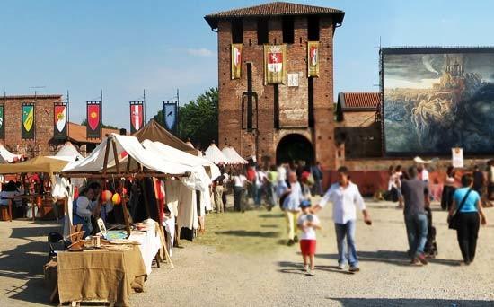 Le contrade nel borgo medievale al Castello