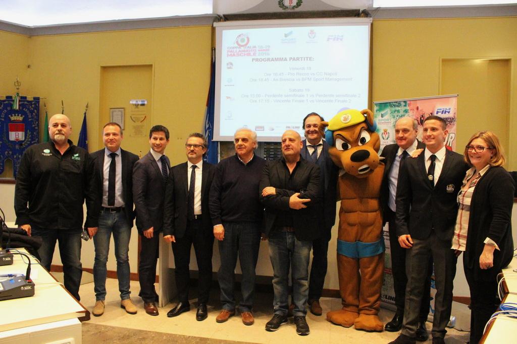 Presentazione Final Four Coppa Italia 2016 Pallanuoto