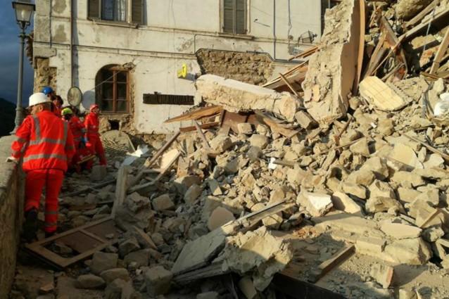 zone colpite dal terremoto
