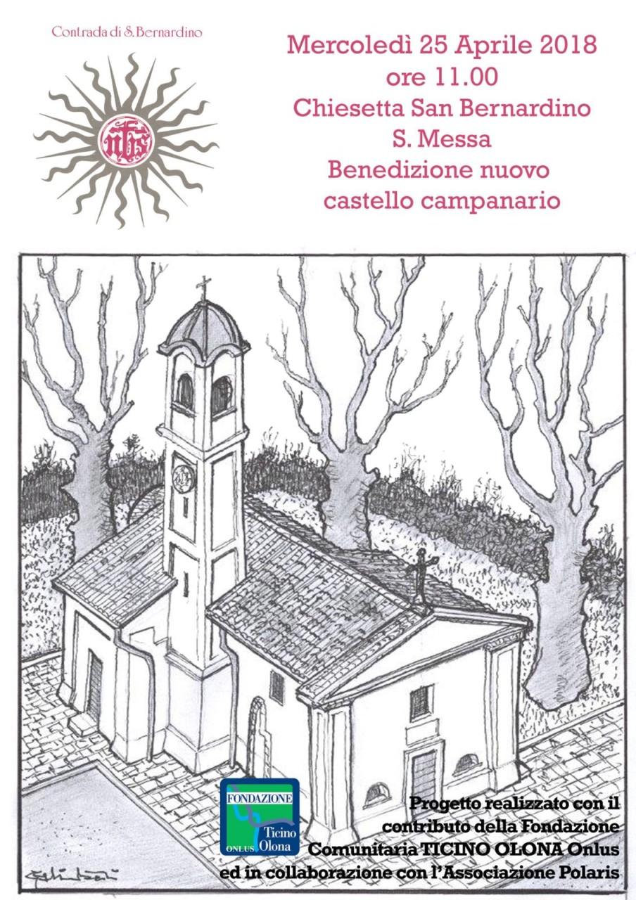 NBS- Benedizione Castello Campanario - Chiesetta San Bernardino - 25 Aprile 2018