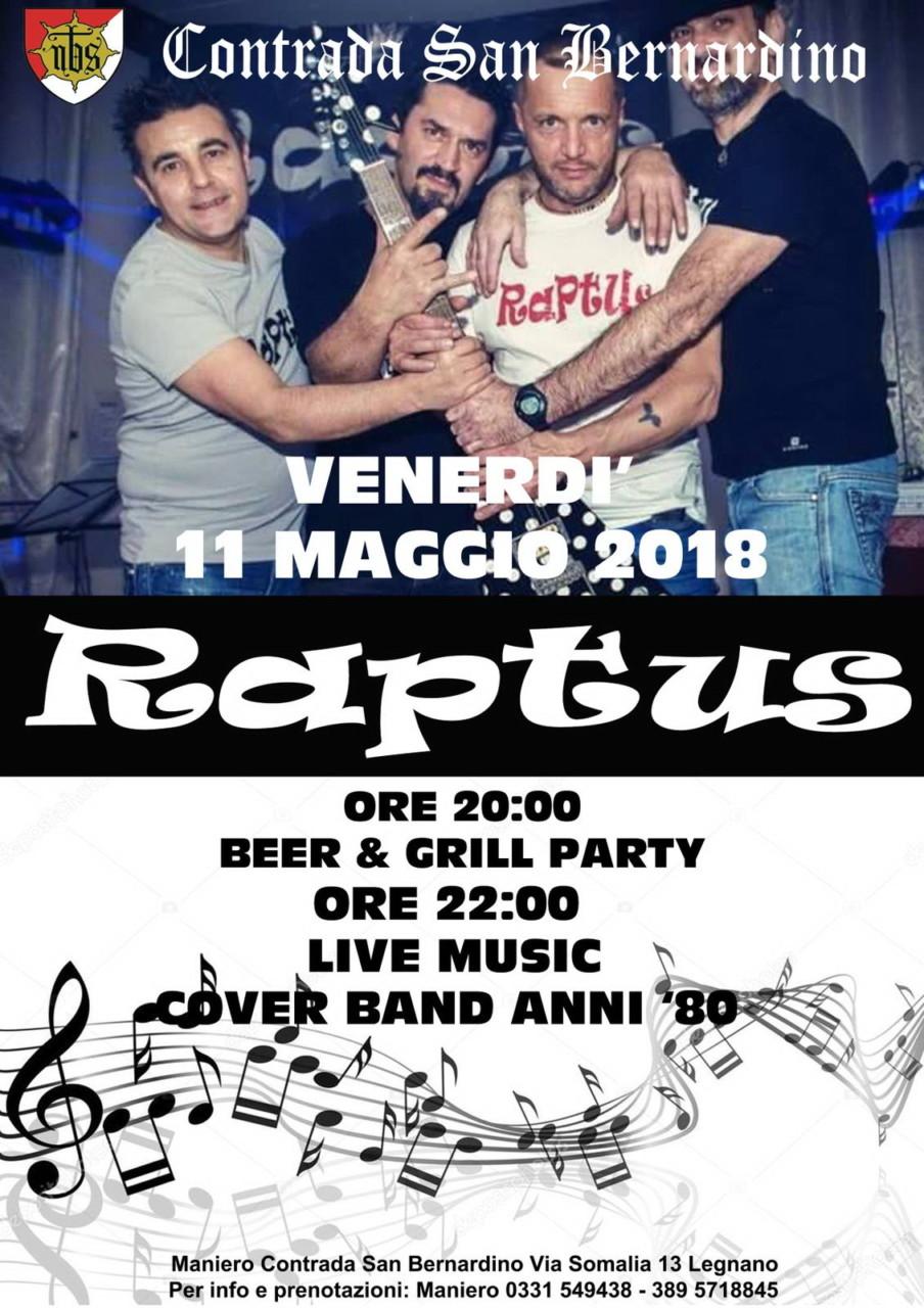 NBS- Serata Raptus anni '80- 11 5 18