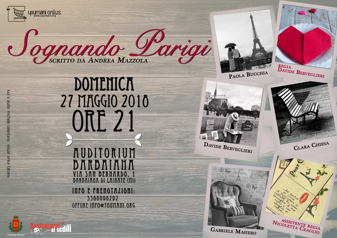 "Youmani Onlus presenta ""Sognando Parigi"" | Sempione News"