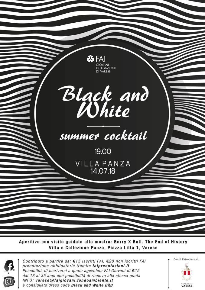 """Aperitivo """"black&white"""" del FAI di Varese"""