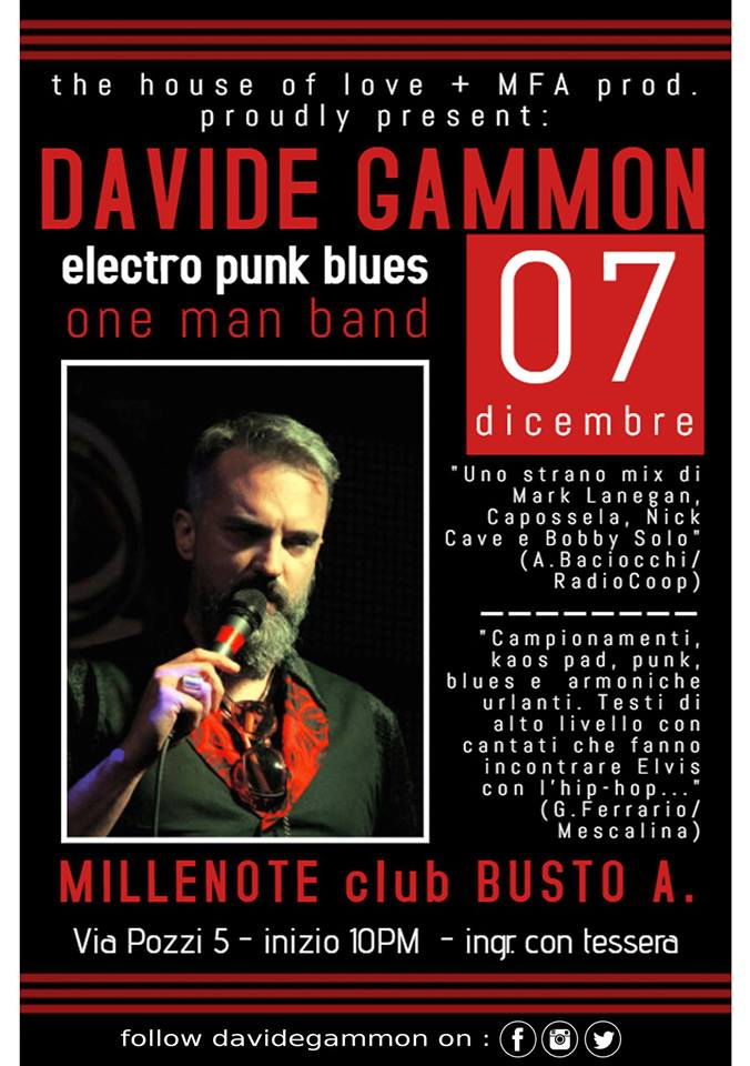 Locandina concerto Gammon