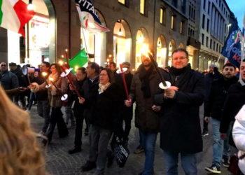 Fiaccolata per FDI Palach Milano 3