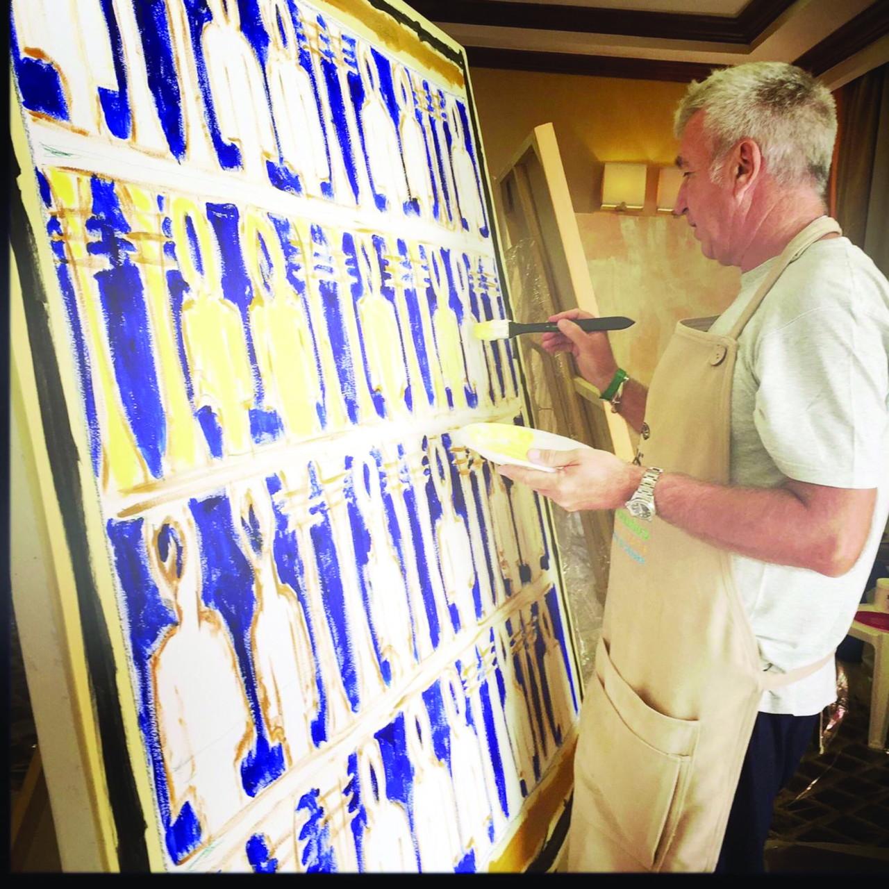 Giorgio Piccaia e il quadro omaggio a Iside