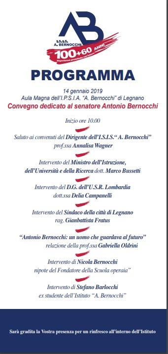 Programma centenario Bernocchi 14 1 19