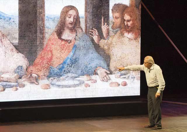 sgarbi vittorio leonardo al teatro Galleria