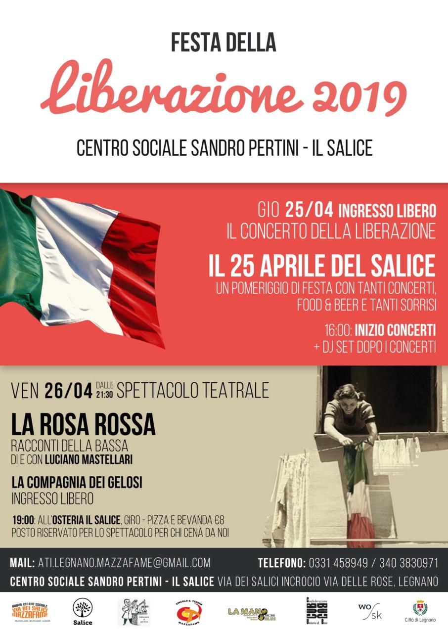 25 aprile 2019 FESTA DELLA LIBERAZIONE al centro Pertini - Il Salice