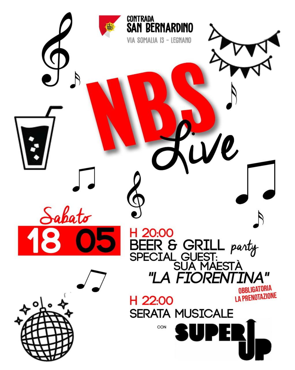 NBS- Serata Fiorentina con concerto Super Up - 18 5 19