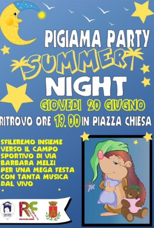 pigiama party rescaldina 2019