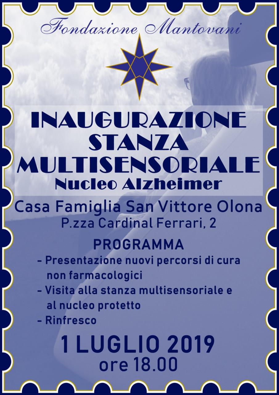 volantino ok Stanza Multisensoriale Casa Famiglia di San Vittore Olona sensory room