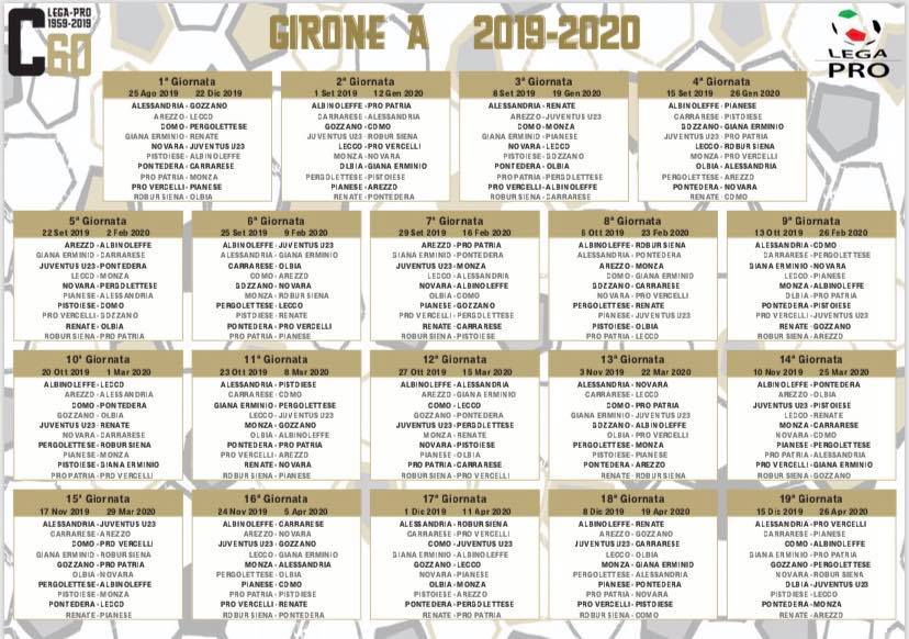 Calendario Monza.Ecco Il Calendario Della Serie C Pro Patria Monza Prima
