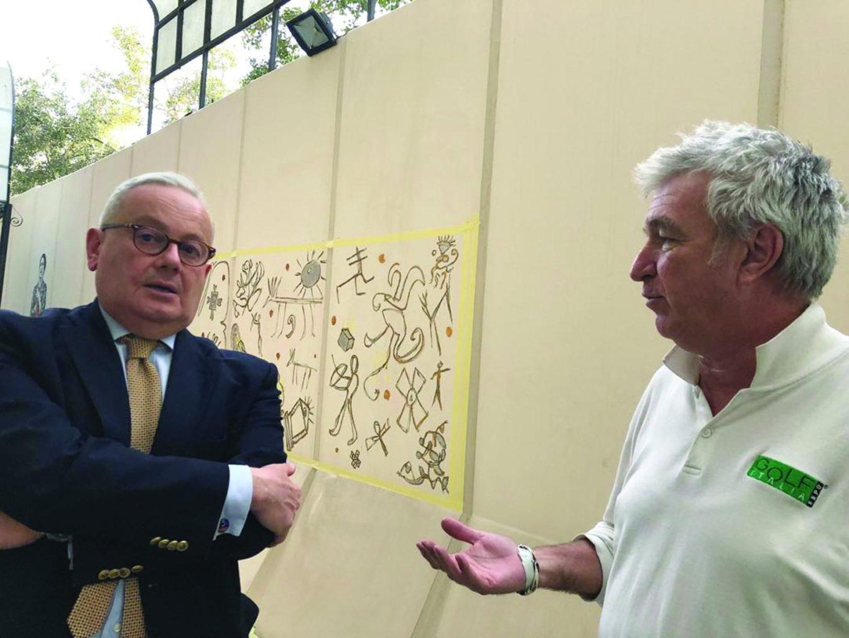 Piccaia e Ambasciatore d'Italia in Egitto Gianpaolo Cantini