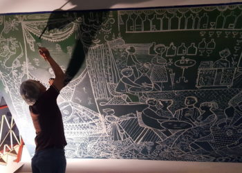 Pinnarò Restauro murales Teatro Galleria Legnano 2
