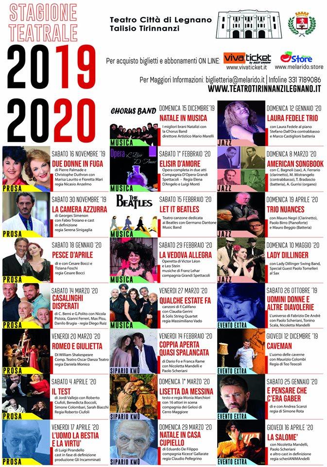Polito Calendario 2020.Il Teatro Tirinnanzi Si Prepara All Inizio Della Stagione