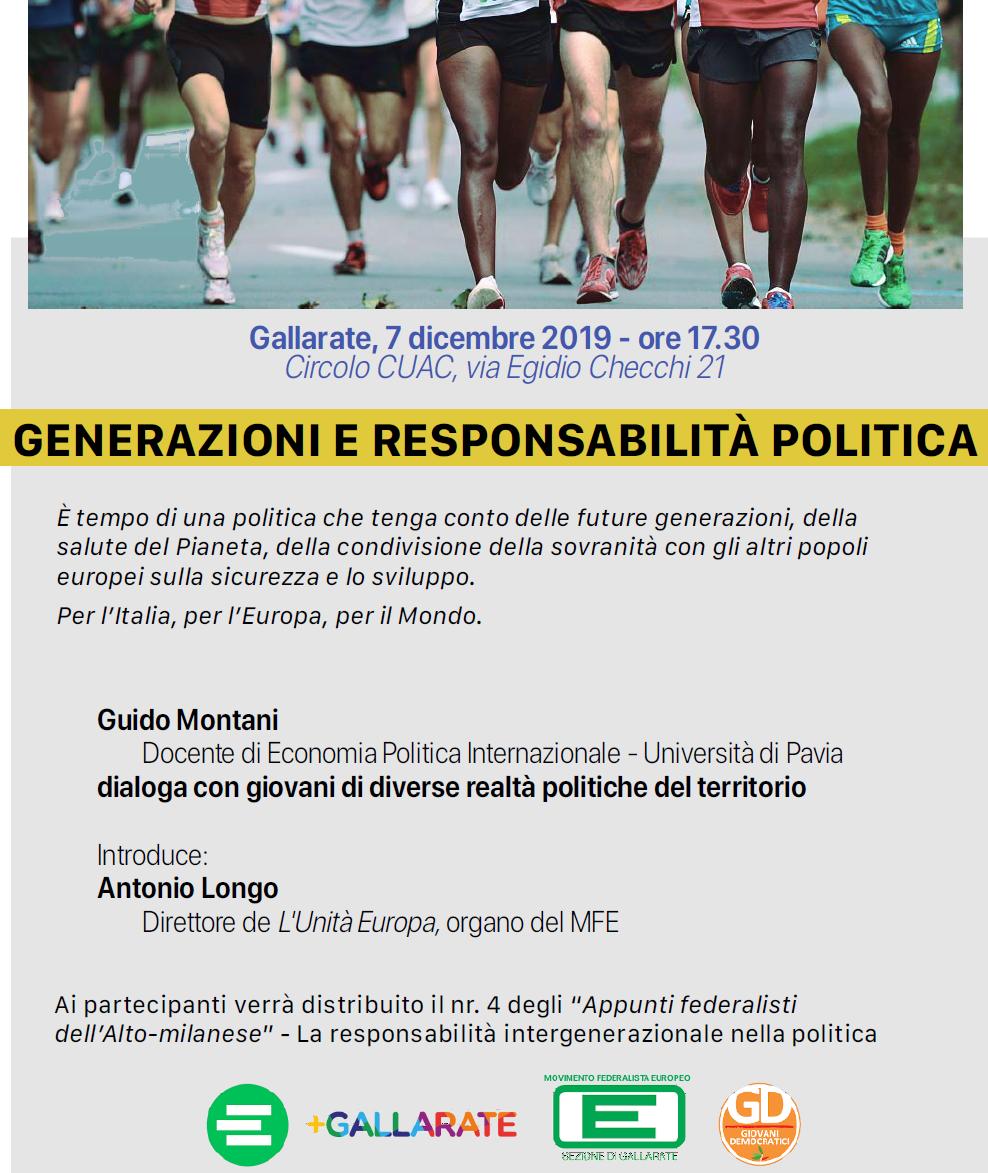 locandina mfe generazioni e responsabilità politica CUAC Gallarate