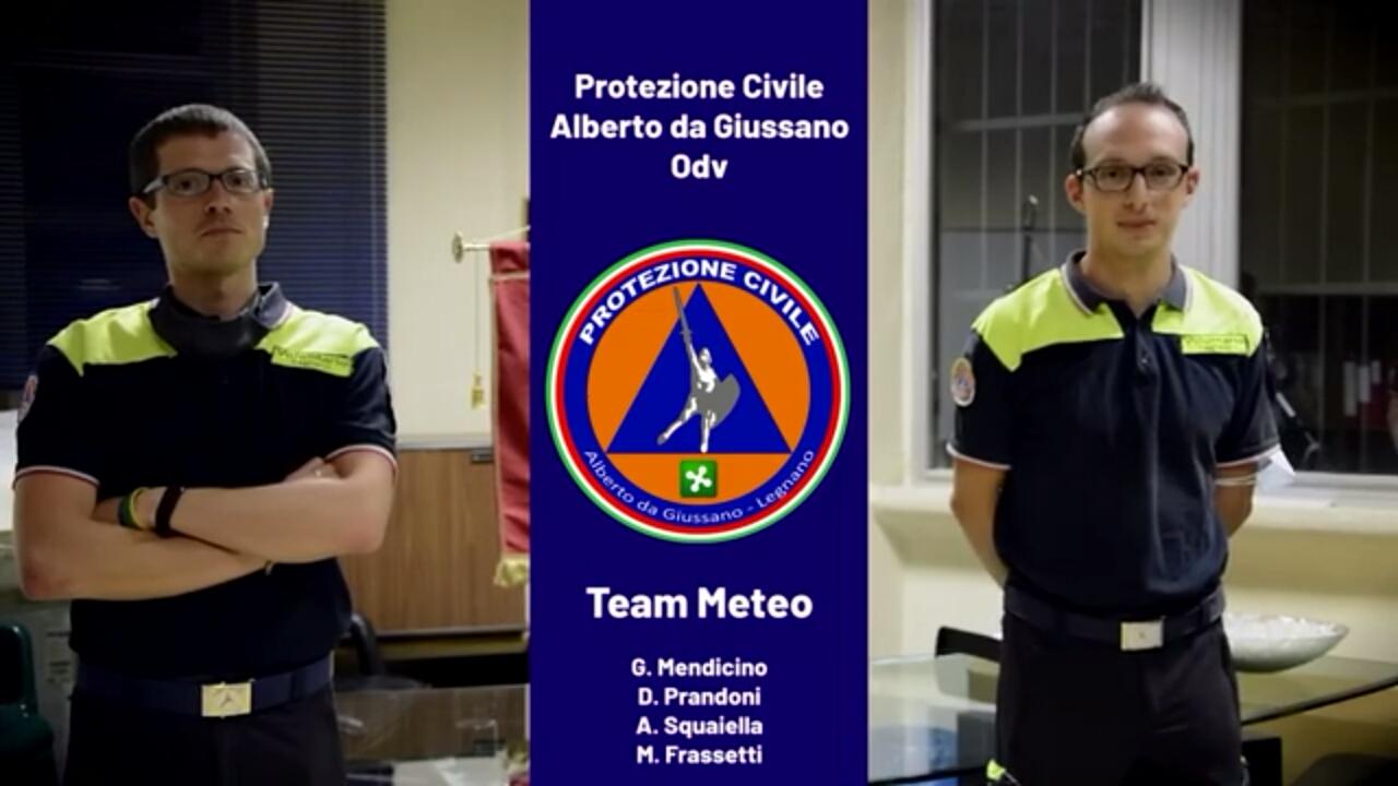 squadra meteo Protezione civile Legnano