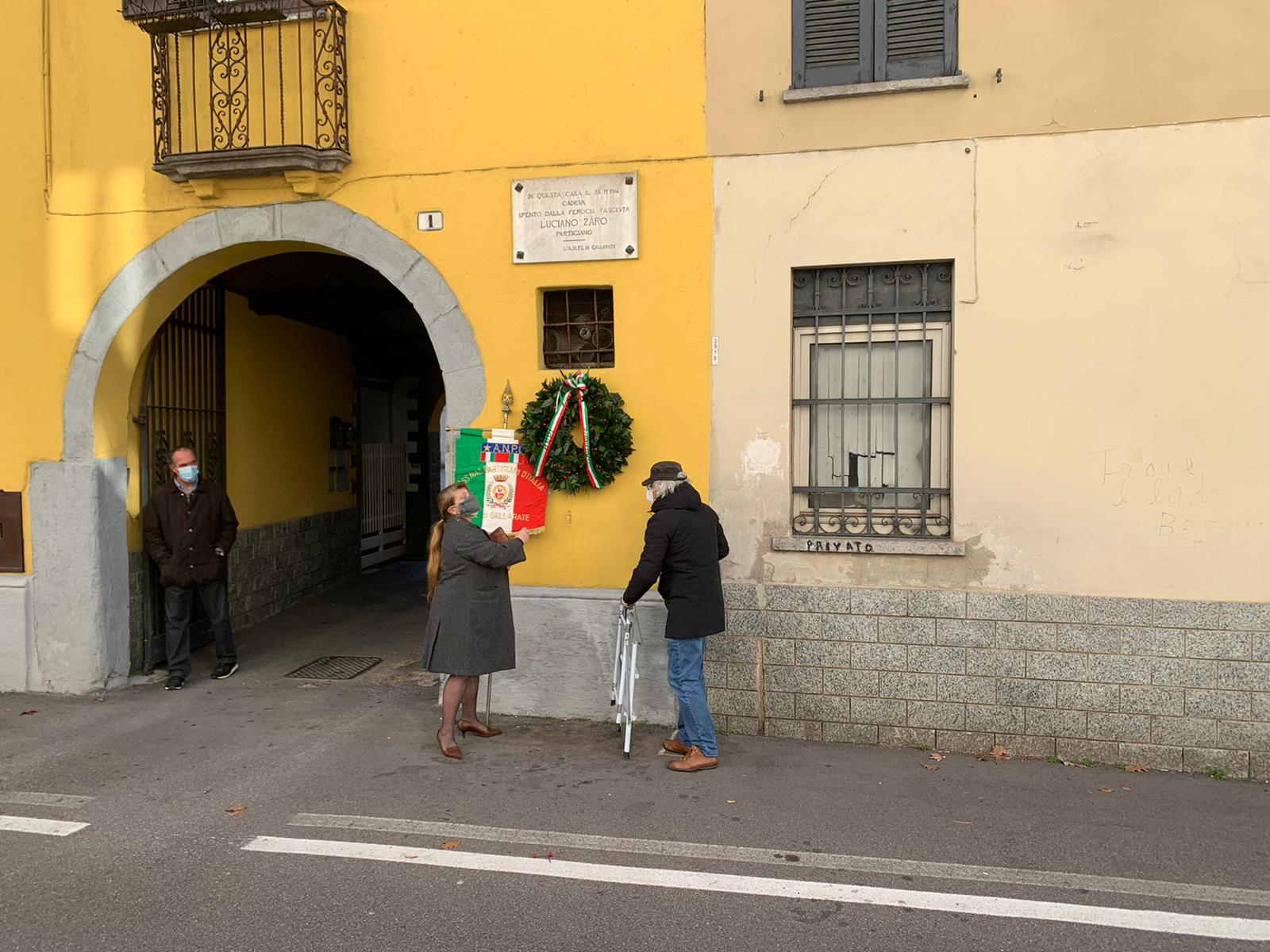 commemorazione Luciano Zaro Anpi Gallarate