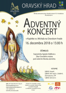 hrad adventný koncert 2018 plagát