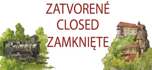 Oravský hrad a Oravská lesná železnica v apríli zatvorené