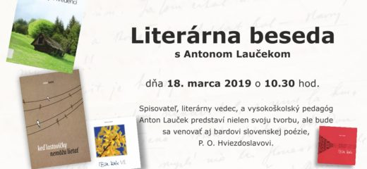 Literárna beseda s Antonom Laučekom