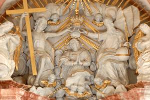 hrad kaplnka oltar pisny