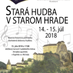 hrad stara hudba v starom hrade plagát