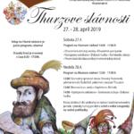plagát podujatia Thurzove slávnosti 2019
