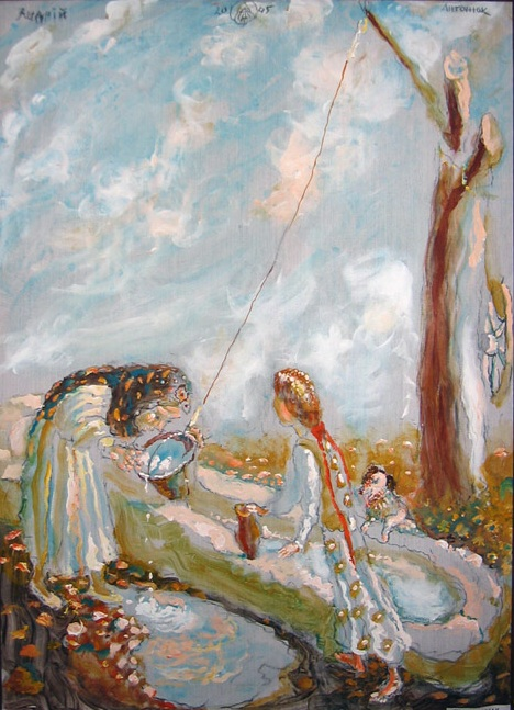 Біля журавля