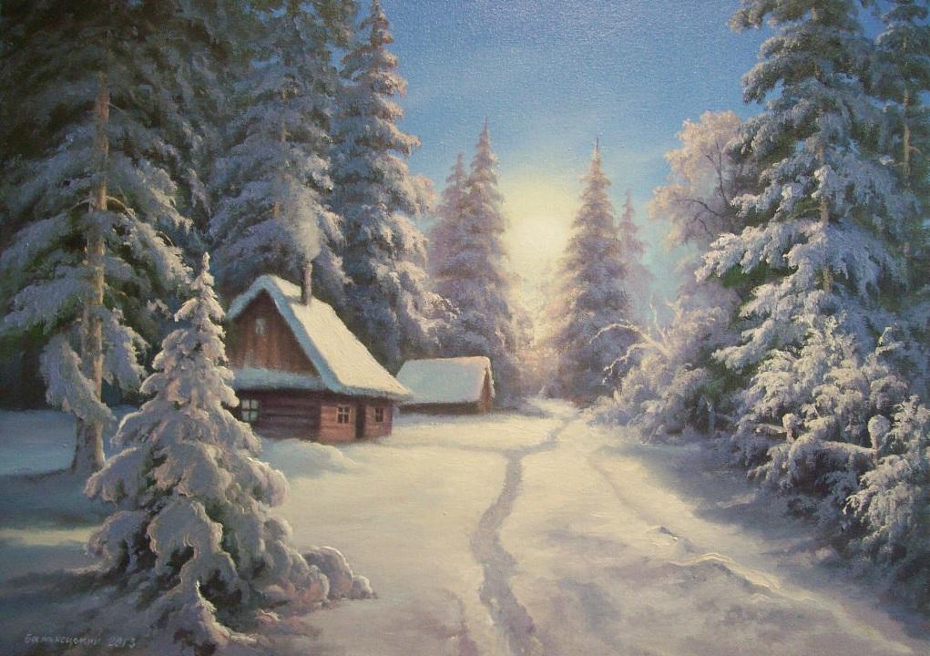 анимационная картинка домик лесника в зимний период снова подгибают
