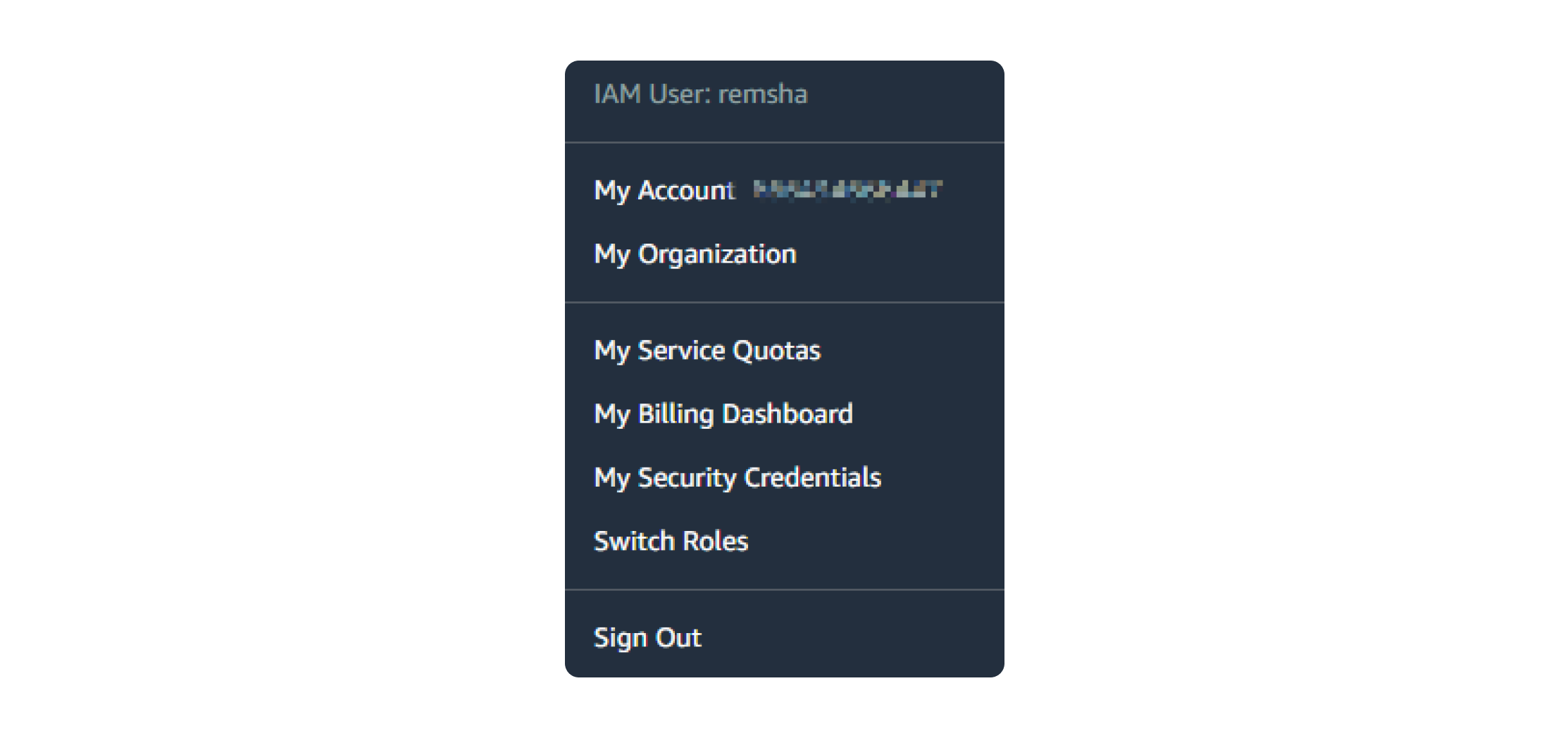 Setting the account