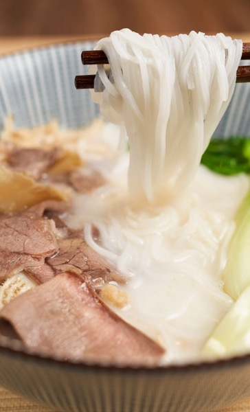 Soup of Rice noodles with Beef offal