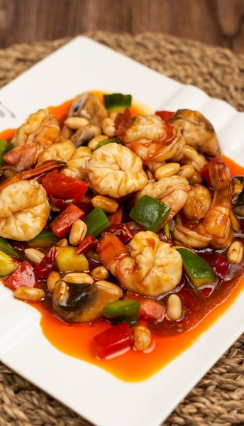 Sautéed Shrimp-ball in Chili sauce