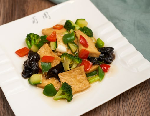 Stir-fried Tofu and Vegetables home style
