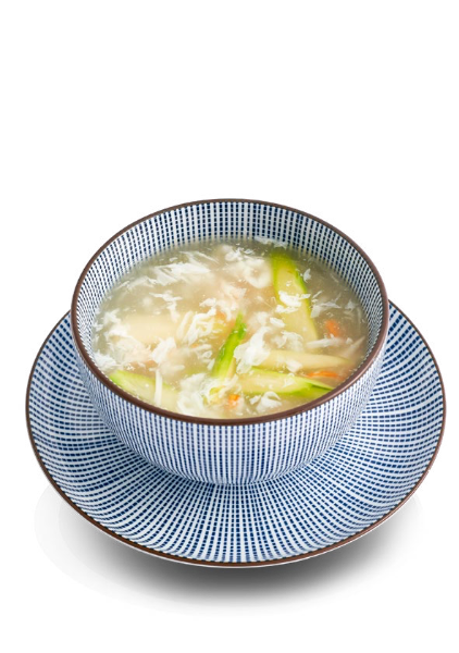 Soup of Crab sticks and Asparagus