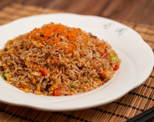 Fried rice with dried Fish Sichuan style